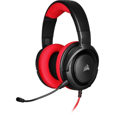Corsair Gaming Headset Wired HS35  Red ( P.N CA-9011198-EU )
