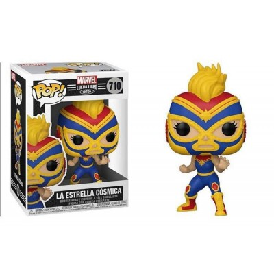 Funko POP! Marvel: Luchadores - Captain Marvel #710 Vinyl Figure