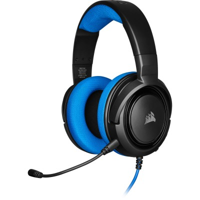 Corsair Gaming Headset Wired HS35  Blue  ( P.N  CA-9011196-EU )