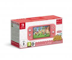 Nintendo Switch Console Lite Coral + Animal Crossing + 3M NSO G/R