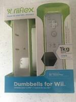 Wii-FIT-GAMES-COMPATIBLE-RIIFLEX-1KG-DUMBBELL-SET_used