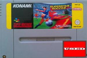 International Superstar Soccer SNES UNBOXED (Worn Sticker)
