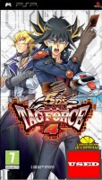 Yu-Gi-Oh! 5Ds Tag Force 4 + (3 Cards) PSP USED